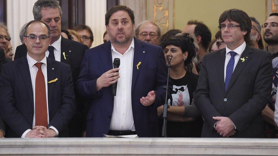 Parlamentarios catalanes