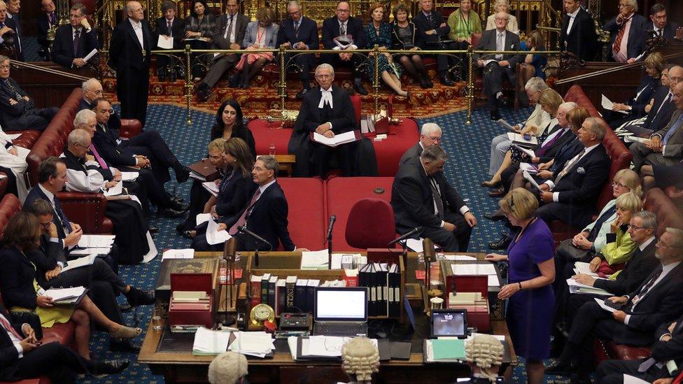 英國上議院開會場景