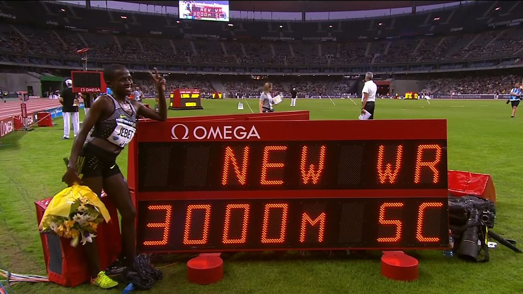 Ruth Jebet breaks 3,000m steeplechase world record in Paris