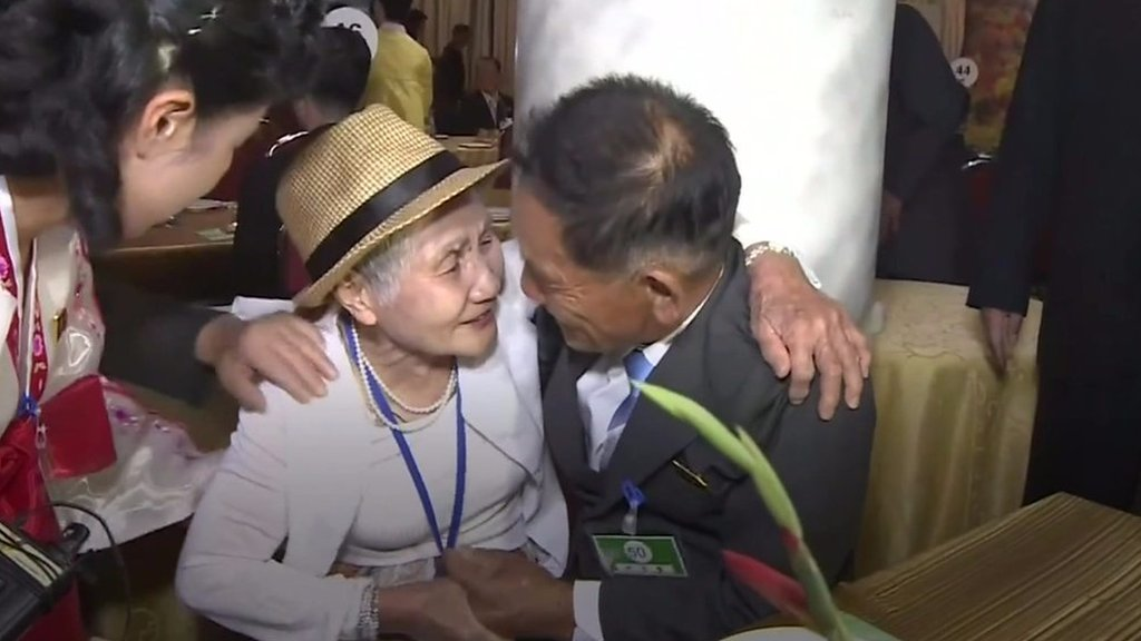 Korea reunion: Mother and son reunite after 67 years