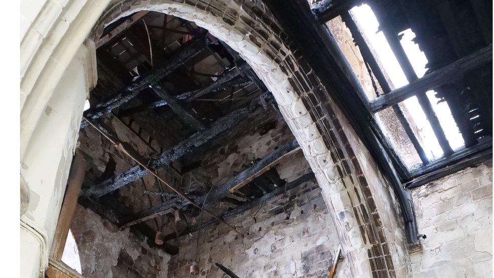 Fire-damaged Royston church refit 'will take years'