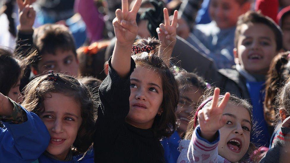 Escolares en Rojava