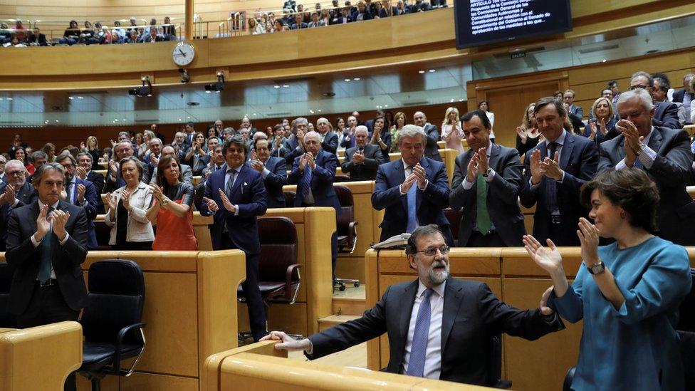 Mariano Rajoy ante el Senado español.