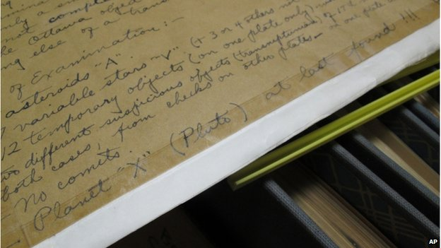 Clyde Tombaugh notes