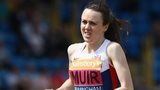 Laura Muir heads for victory in Birmingham