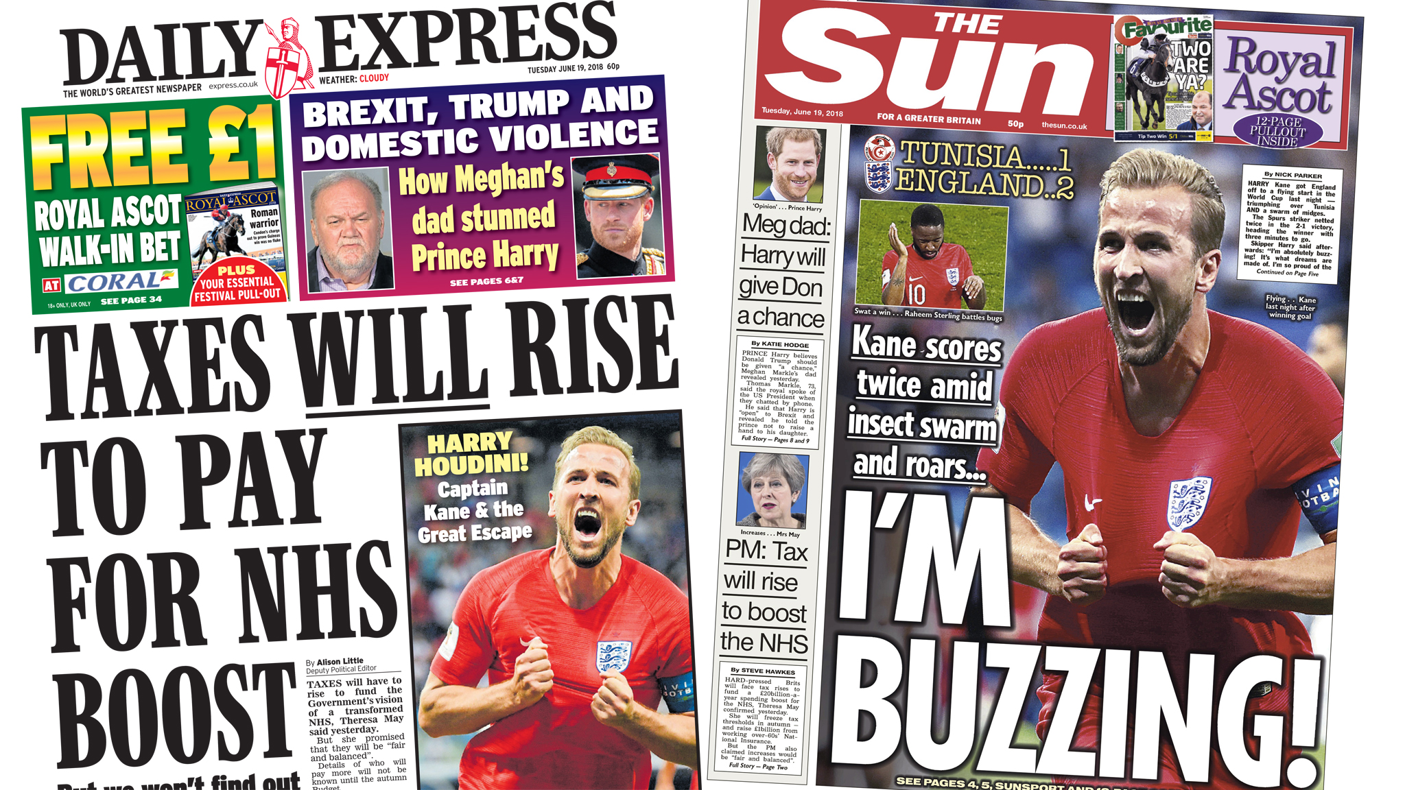 The Papers: NHS tax 'headache' and Captain Marvel