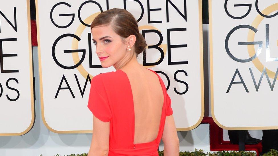 Emma Watson en los Globos de Oro de 2014