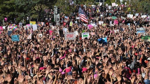 Marcha de Mujeres en Los Angeles.