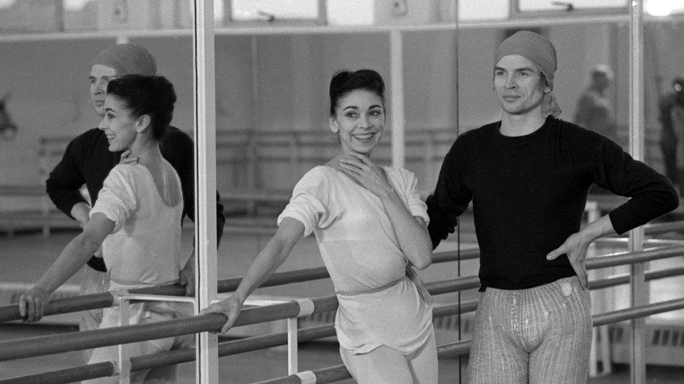 Rudolf Nureyev y Margot Fonteyn en 1967.