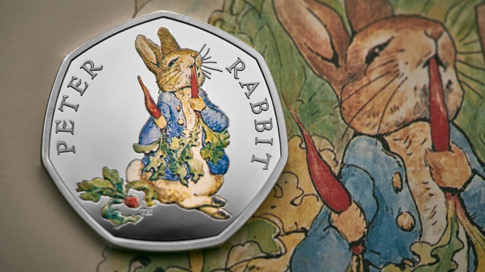 New 50p Beatrix Potter coins released by the Royal Mint