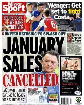 Today's newspaper gossip: Manchester United freeze transfers, New deal for Ivanovic