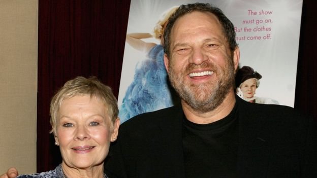 Judi Dench y Harvey Weinstein