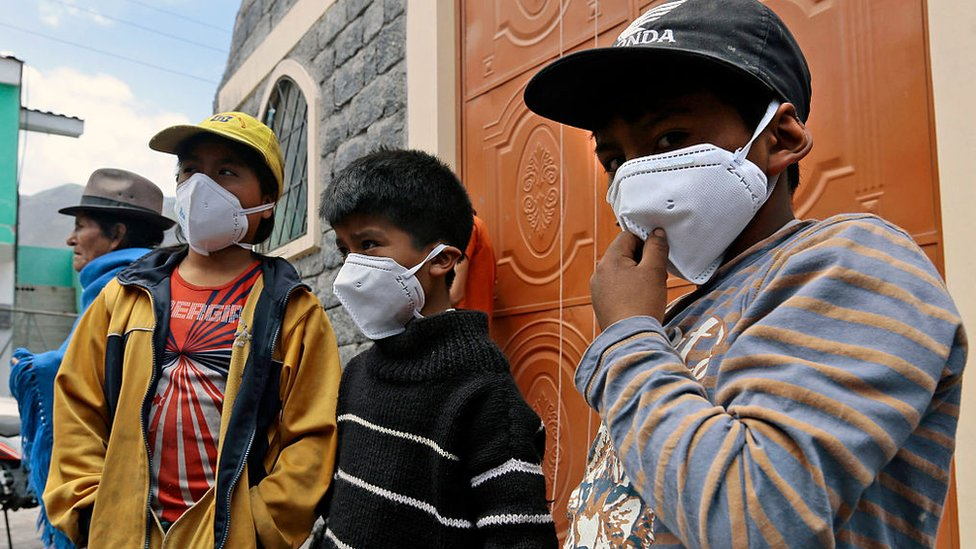 Las poblaciones cercanas al Tungurahua, en 2016, se vieron afectadas por las cenizas del volcán.
