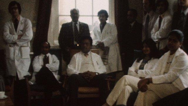 Junior Doctors on strike in 1975