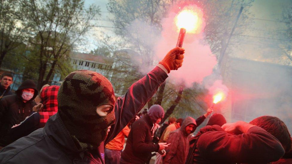 """SCL dice que fue contratada para """"erosionar y debilitar"""" a la oposición antigubernamental en Donetsk."""