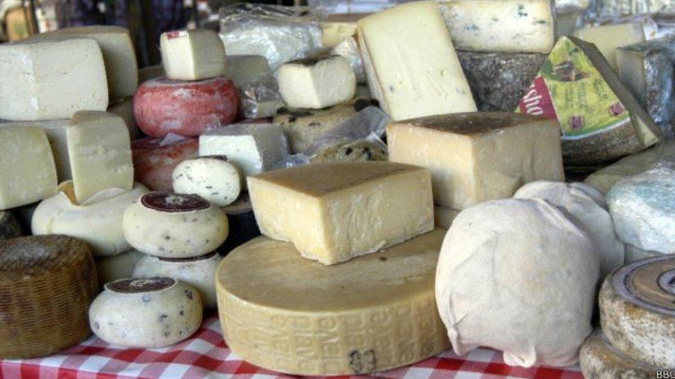 Conjunto de quesos
