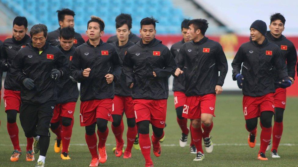 U23 VN luyện tập ở Thường Châu trước trận gặp Qatar