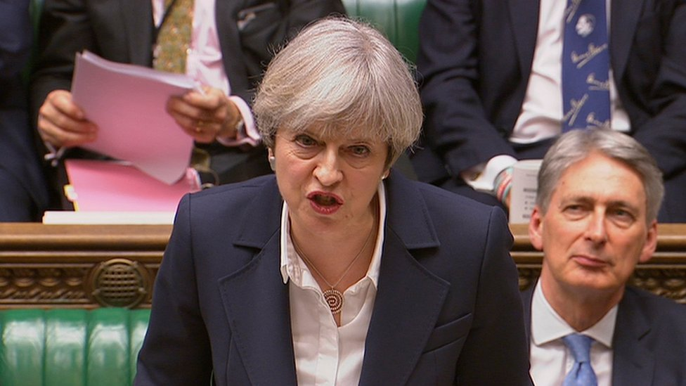 Theresa May ante el Parlamento