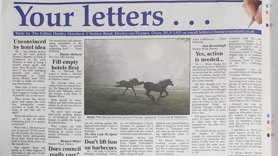 Henley Standard newspaper letters page drops 'sexist' Sir