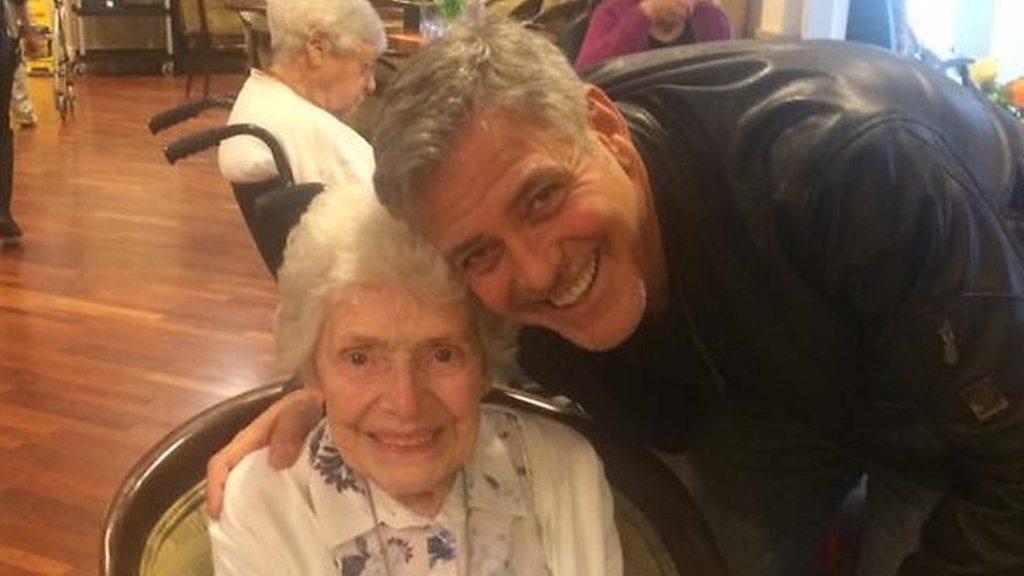 George Clooney visit thrilled 87-year-old Pat Adams