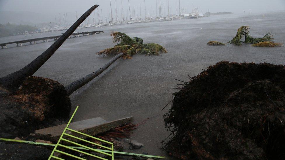 La misma región afectada por Irma fue la ruta que tomó el huracán María.