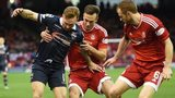 Ross County and Aberdeen players
