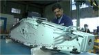 Worker in aviation factory