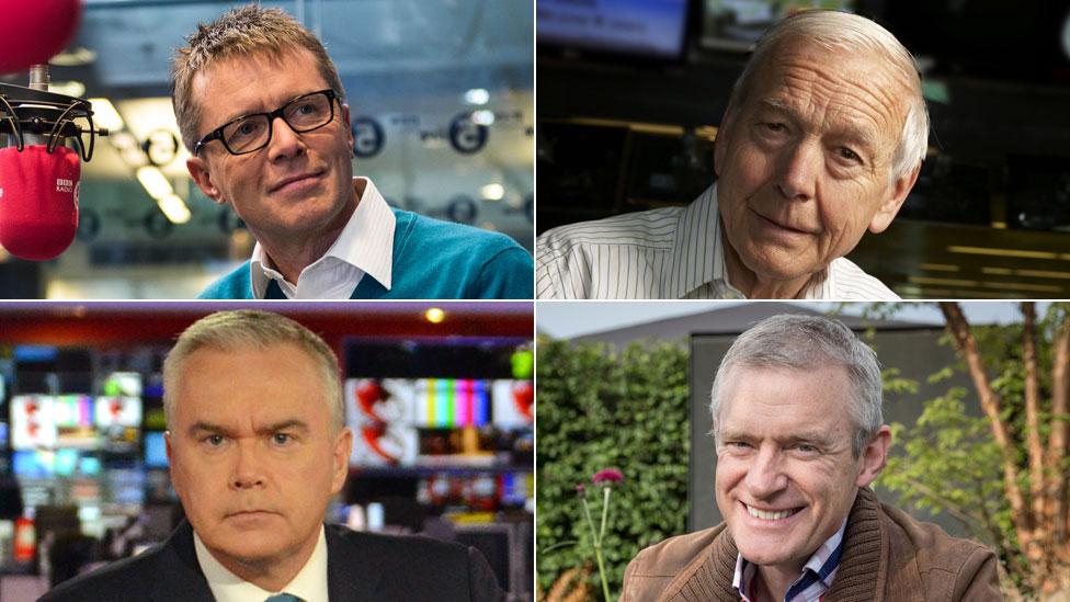 Nicky Campbell, John Humphrys, Jeremy Vine, Huw Edwards