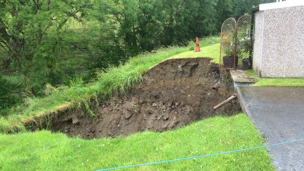 30ft sink hole appears near homes in Carmarthen
