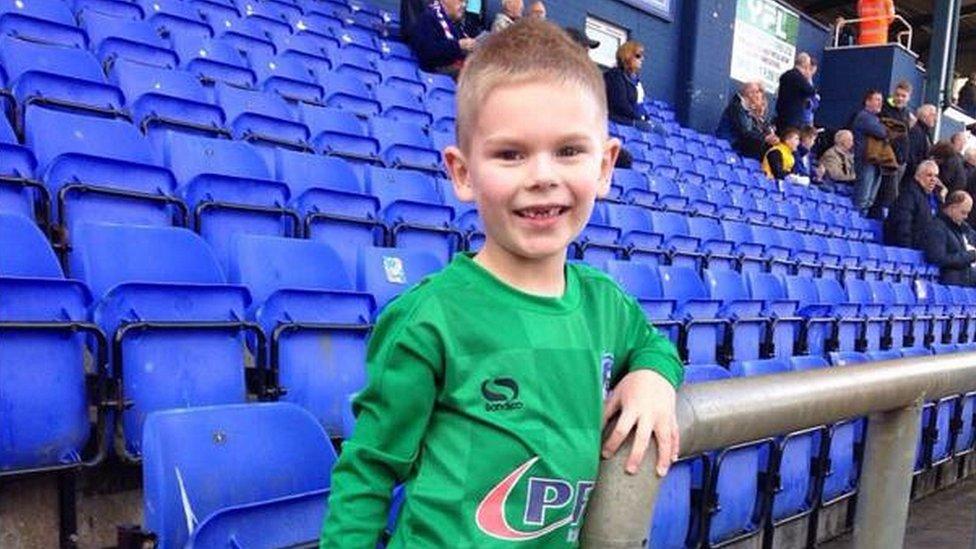 <![CDATA[Oldham Athletic fan, 5, gets goalkeeper trial after goalie's loan spell ends]]>