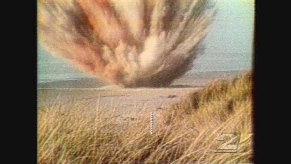 ballena en explosión