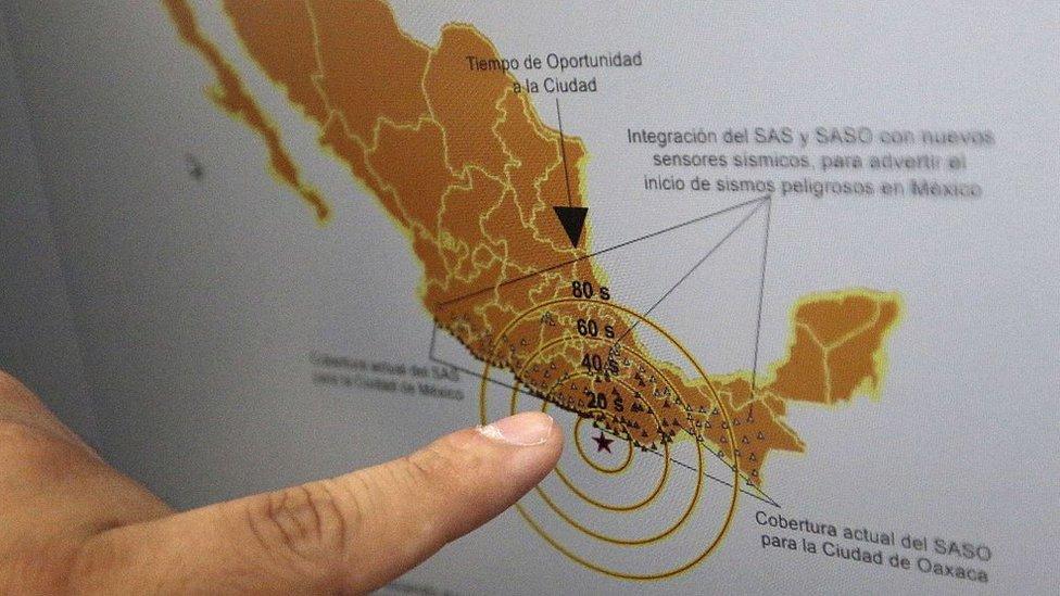 Mapa sísmico de México