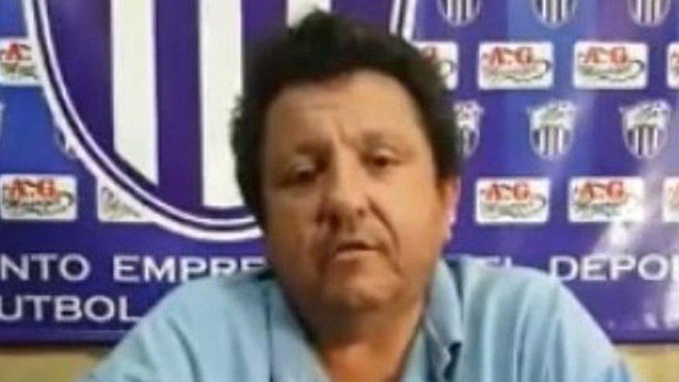 El directivo Antonio González en un video publicado en Facebook (Foto: Facebook)