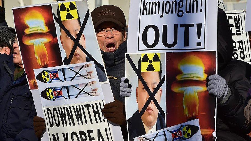 El programa nuclear de Corea del Norte es causa de numerosas protestas en Corea del Sur.