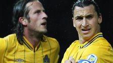 Jonas Olsson and Zlatan Ibrahimovic