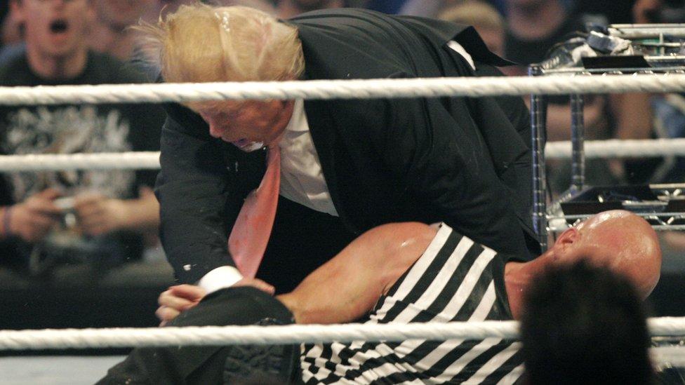 Donald Trump en Wrestlemania