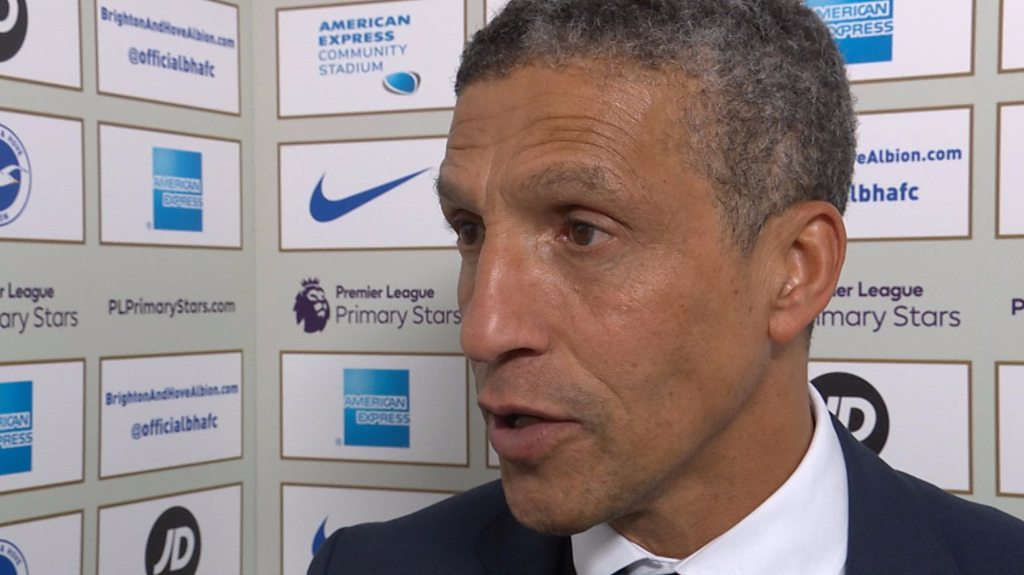 Brighton 2-2 Stoke: Chris Hughton pleased despite Seagulls' 'naivety'