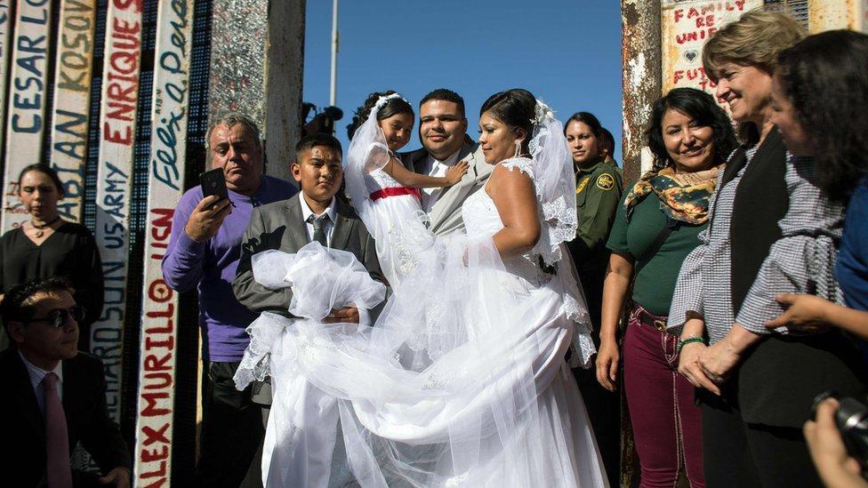 La pareja de novios el día de su boda.
