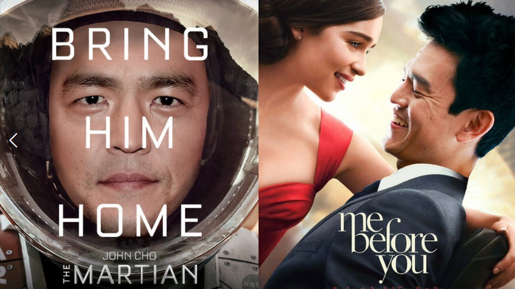 Popular movie posters with John Cho as the lead actor