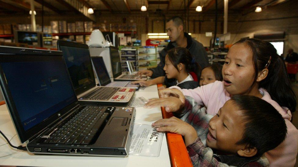 Familia hmong en Fresno, California