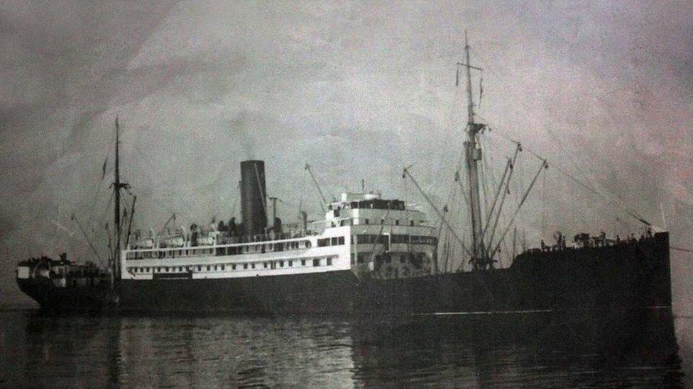 Una foto del SS Sagaing