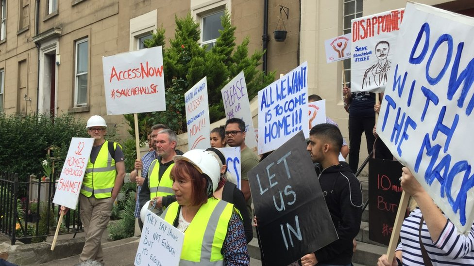 Let us in, demand residents weeks after fire