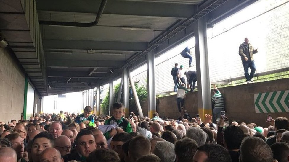 Five injured after 'crush' at Old Firm game