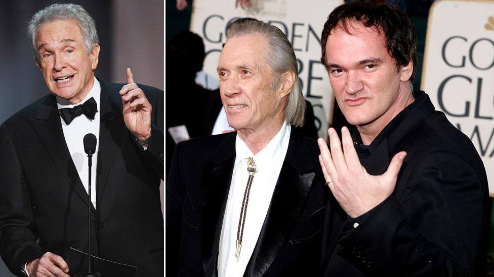 Warren Beatty, David Carradine y Quentin Tarantino