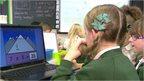 Children at a computer screen