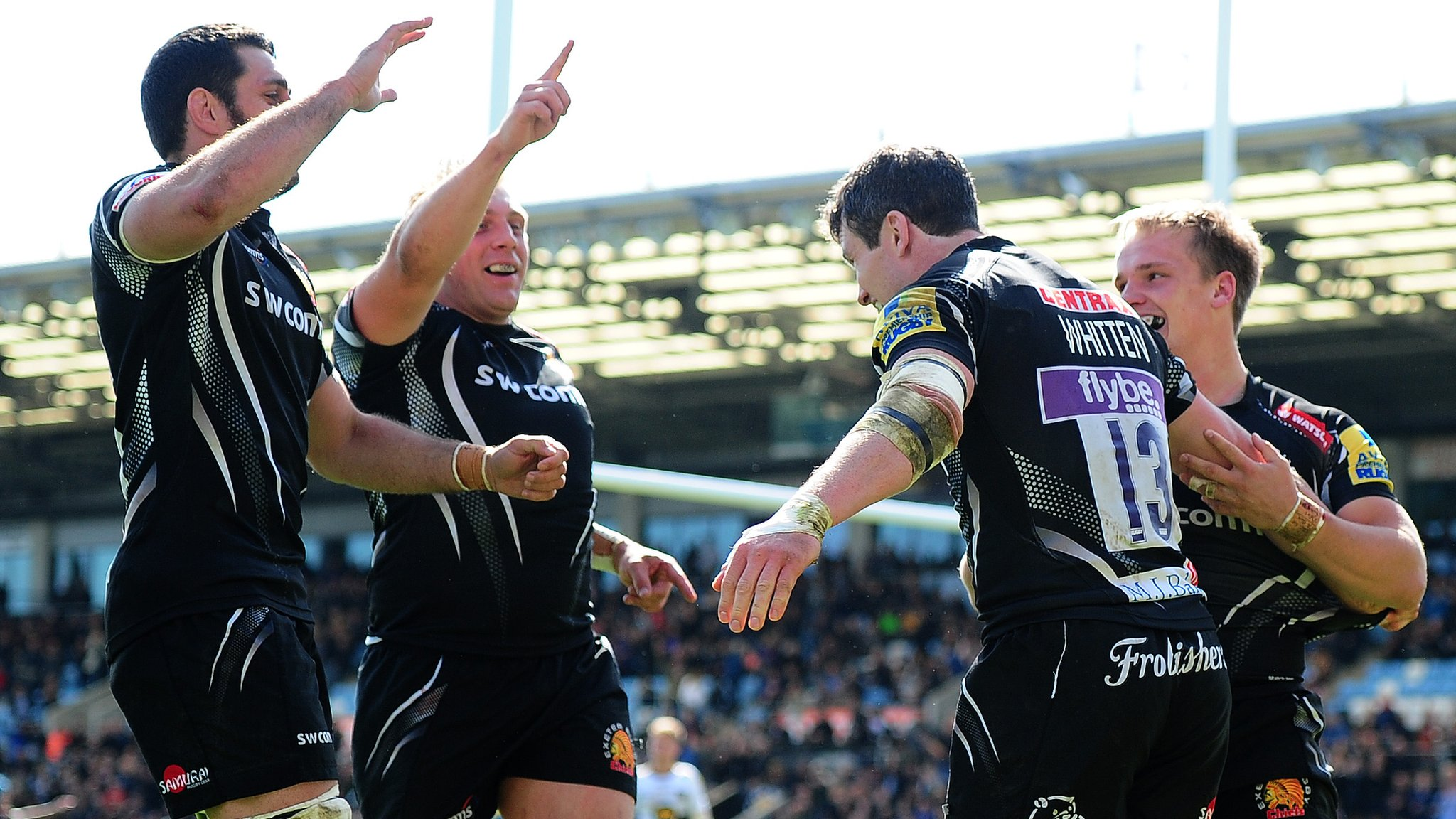 Exeter move level with leaders Wasps