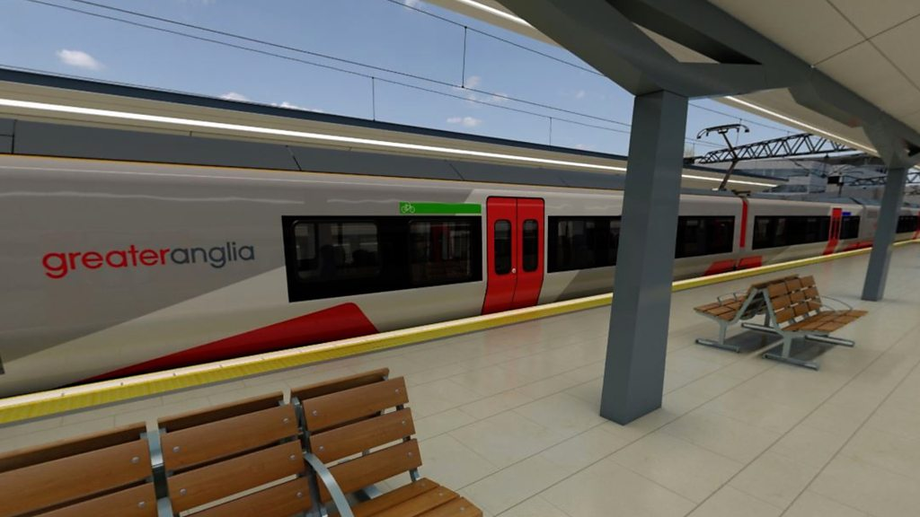 Greater Anglia's new trains revealed in virtual reality