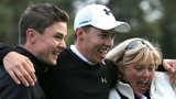 Matthew Fitzpatrick celebrates winning the British Masters