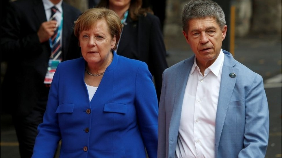 Angela Merkel y Joachim Saue