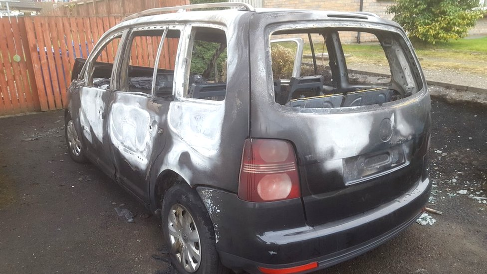 Temple Park, Derry: Car burnt out and house damaged in attack